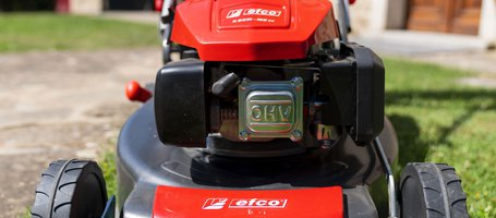 New Efco lawnmowers with electric starter
