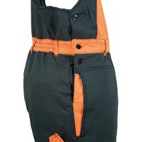 Dungarees with anti-cut protection